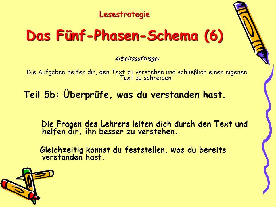Lesestrategie Das Fünf-Phasen-Schema (6)