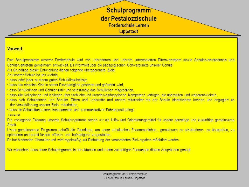 Schulprogramm der Pestalozzischule Förderschule Lernen Lippstadt