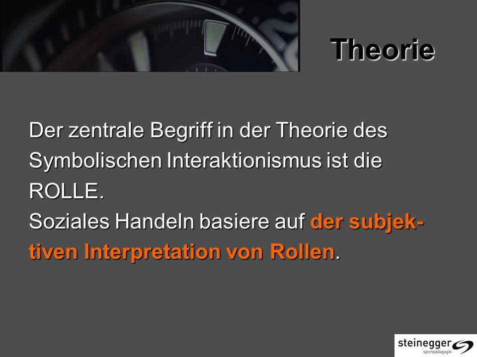 Theorie Der zentrale Begriff in der Theorie des