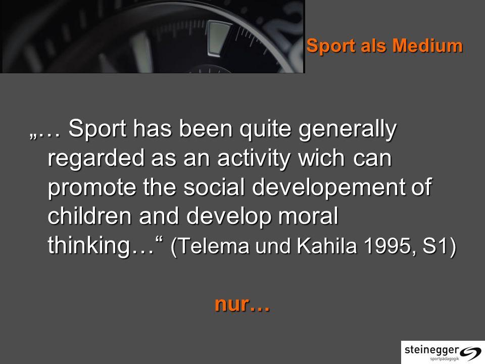 Sport als Medium