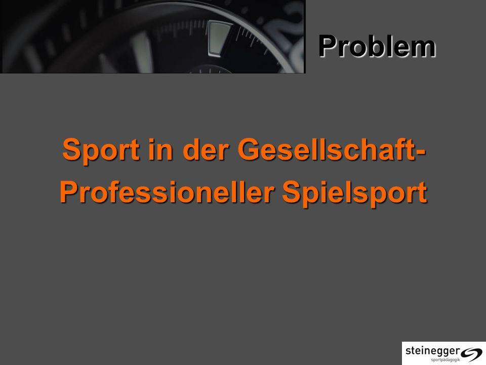 Sport in der Gesellschaft- Professioneller Spielsport
