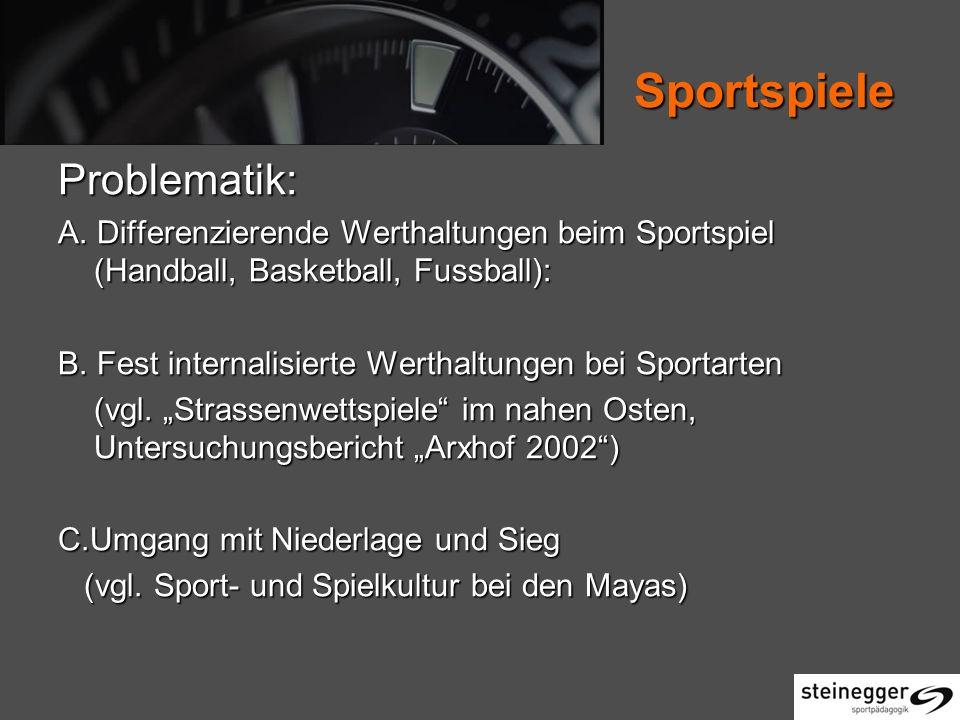 Sportspiele Problematik: