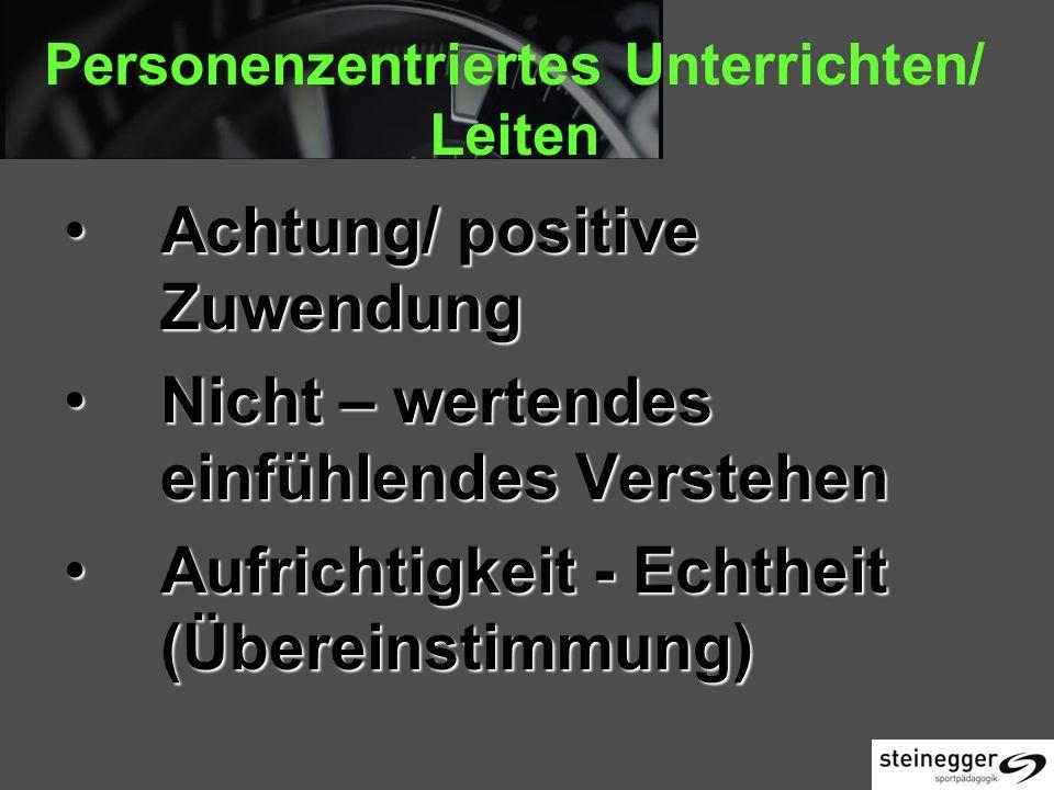 Personenzentriertes Unterrichten/ Leiten