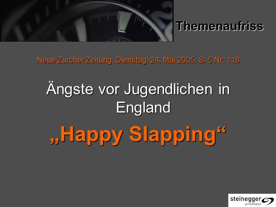 """""""Happy Slapping Ängste vor Jugendlichen in England Themenaufriss"""