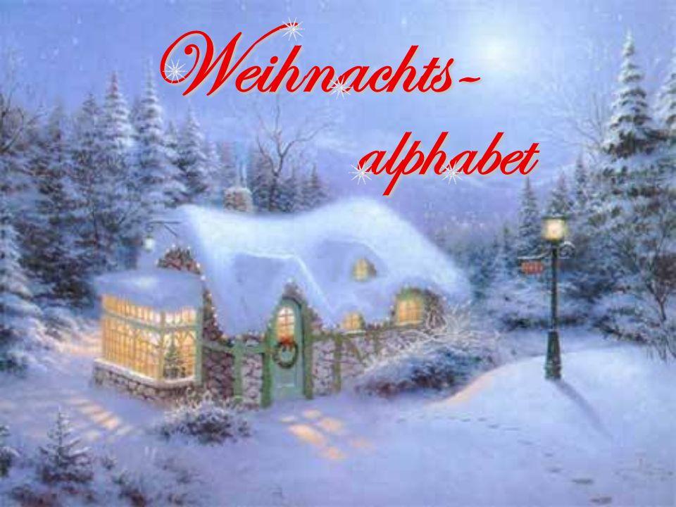 Weihnachts- alphabet