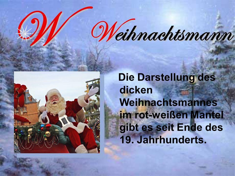 W Weihnachtsmann.
