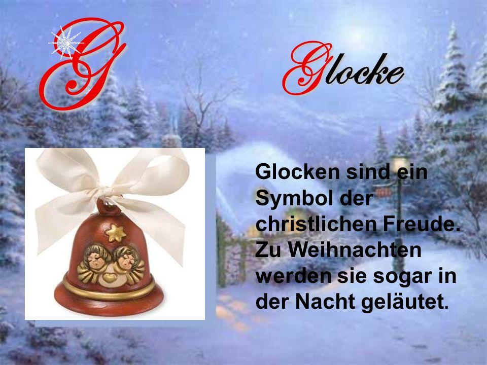G Glocke. Glocken sind ein Symbol der christlichen Freude.