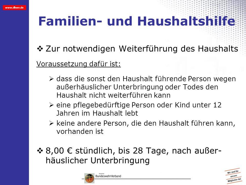 Familien- und Haushaltshilfe