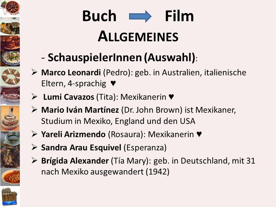 Buch Film Allgemeines - SchauspielerInnen (Auswahl):