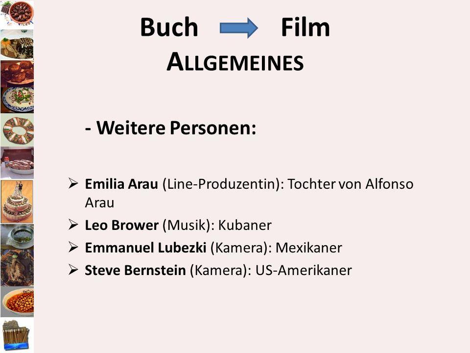 Buch Film Allgemeines - Weitere Personen: