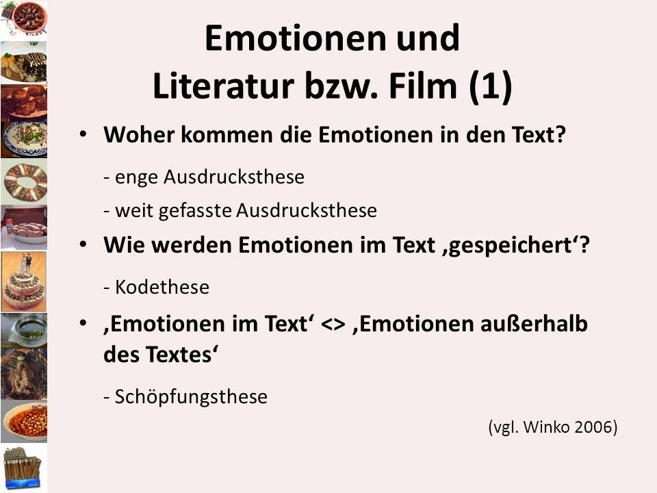 Emotionen und Literatur bzw. Film (1)