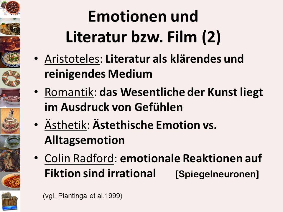 Emotionen und Literatur bzw. Film (2)