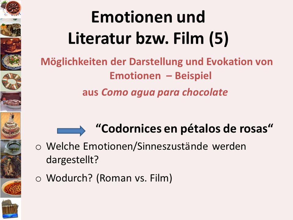 Emotionen und Literatur bzw. Film (5)