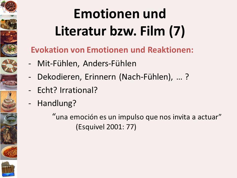 Emotionen und Literatur bzw. Film (7)
