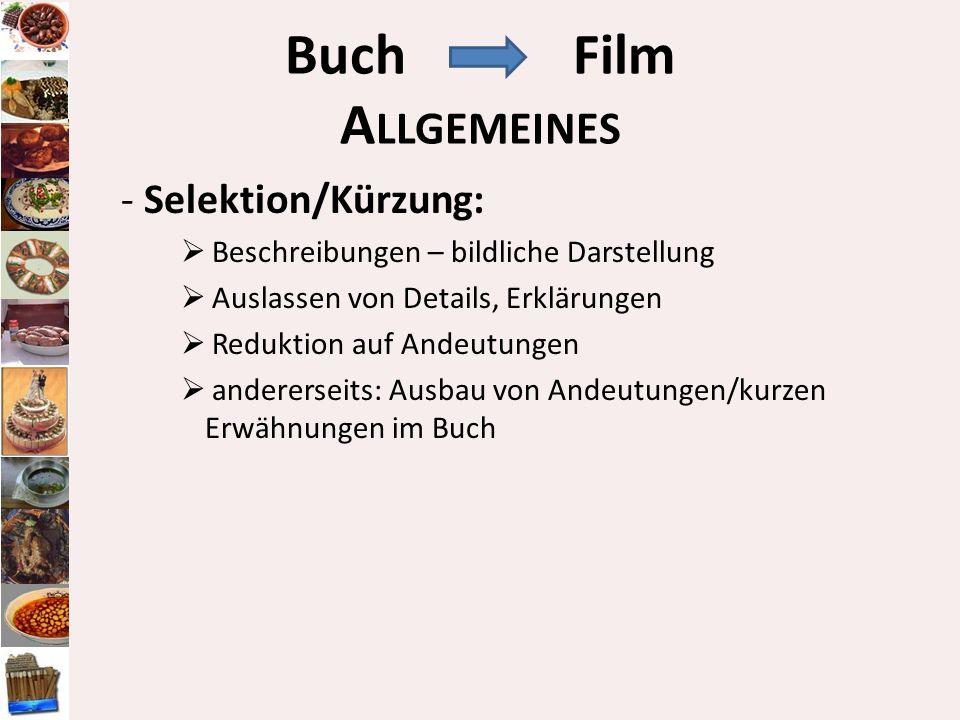 Buch Film Allgemeines - Selektion/Kürzung: