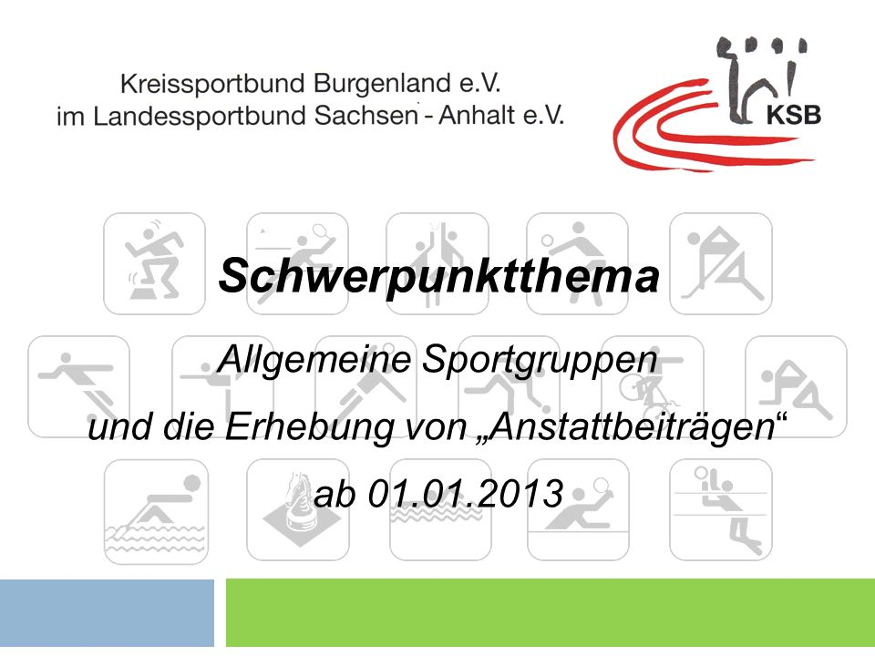 Schwerpunktthema Allgemeine Sportgruppen