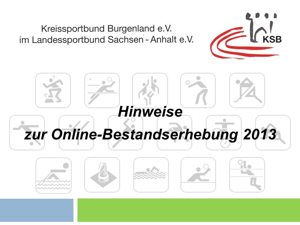 zur Online-Bestandserhebung 2013