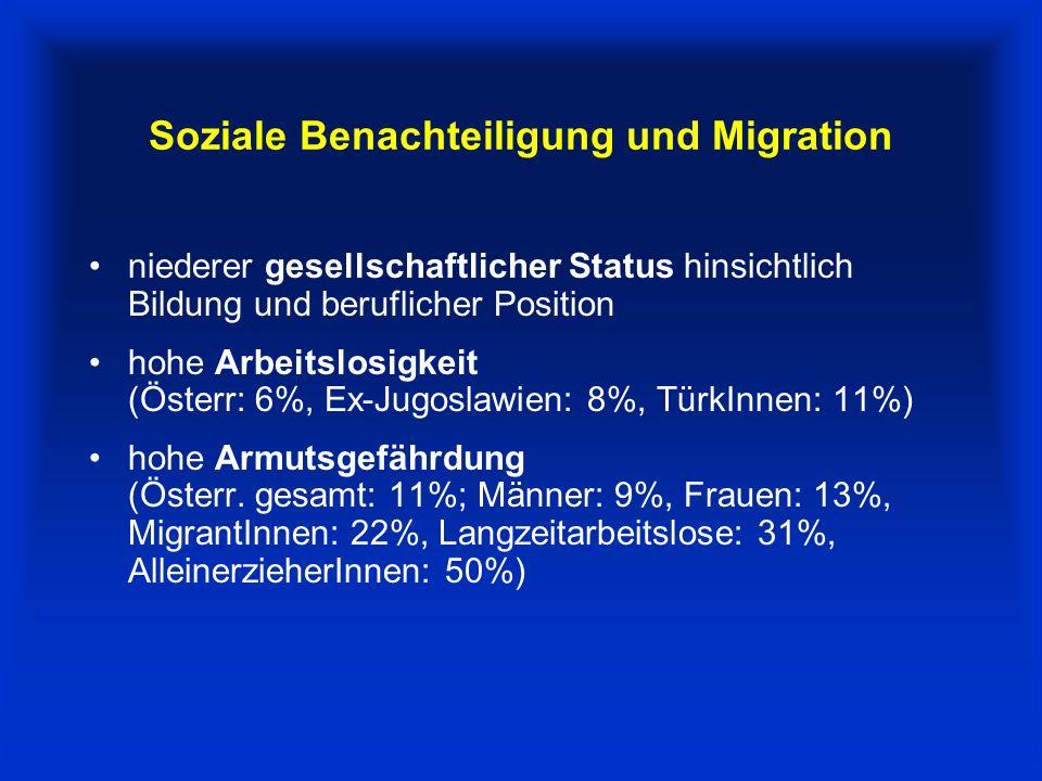 Soziale Benachteiligung und Migration