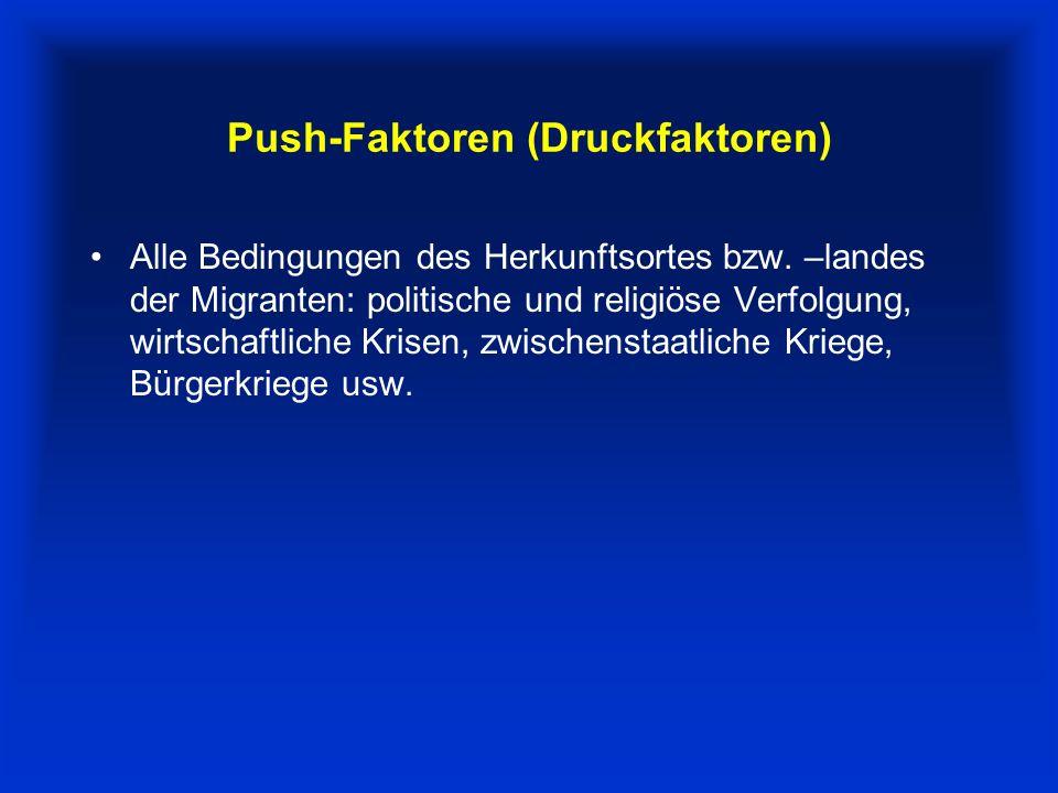 Push-Faktoren (Druckfaktoren)