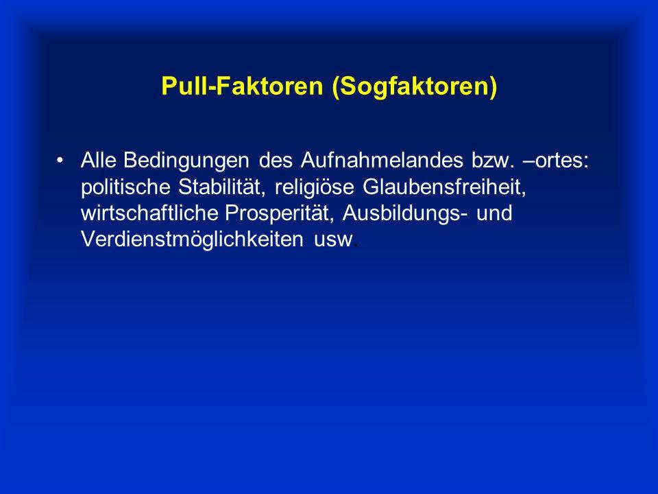Pull-Faktoren (Sogfaktoren)