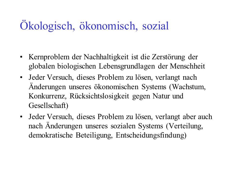 Ökologisch, ökonomisch, sozial