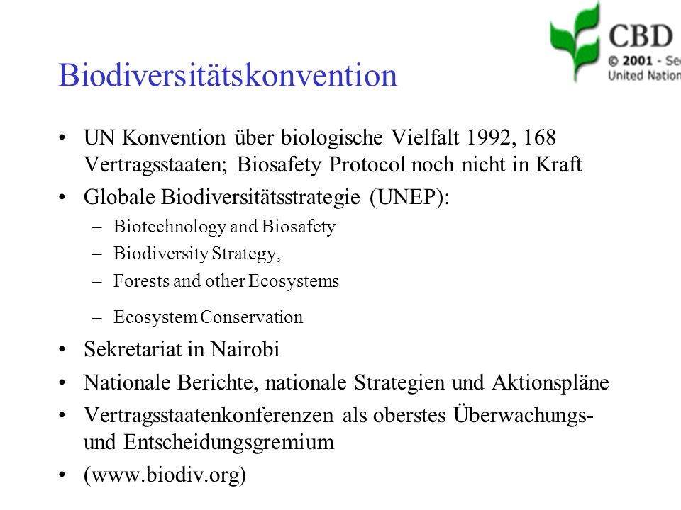 Biodiversitätskonvention