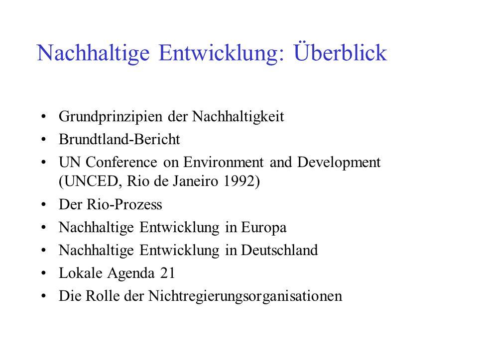 Nachhaltige Entwicklung: Überblick