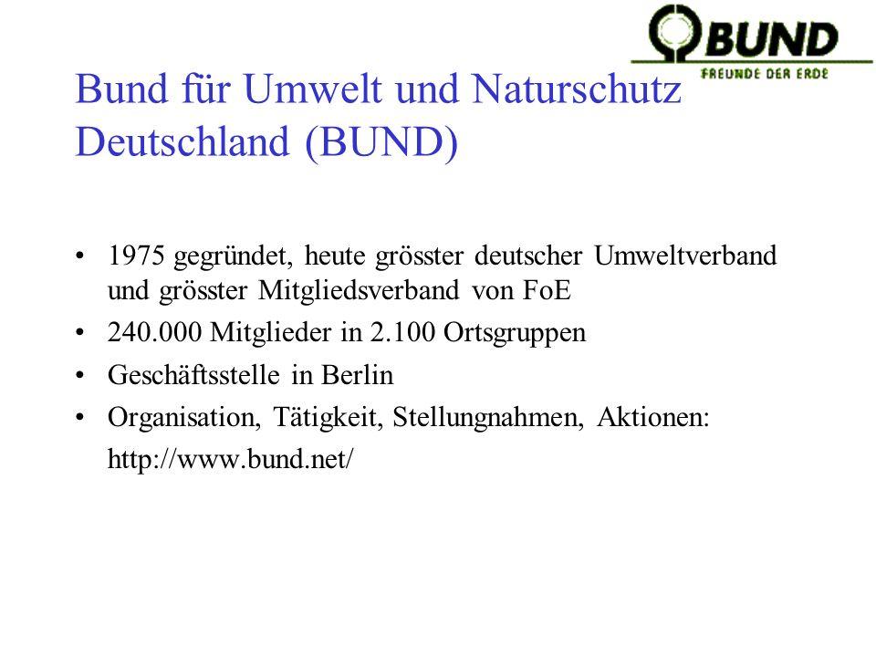 Bund für Umwelt und Naturschutz Deutschland (BUND)