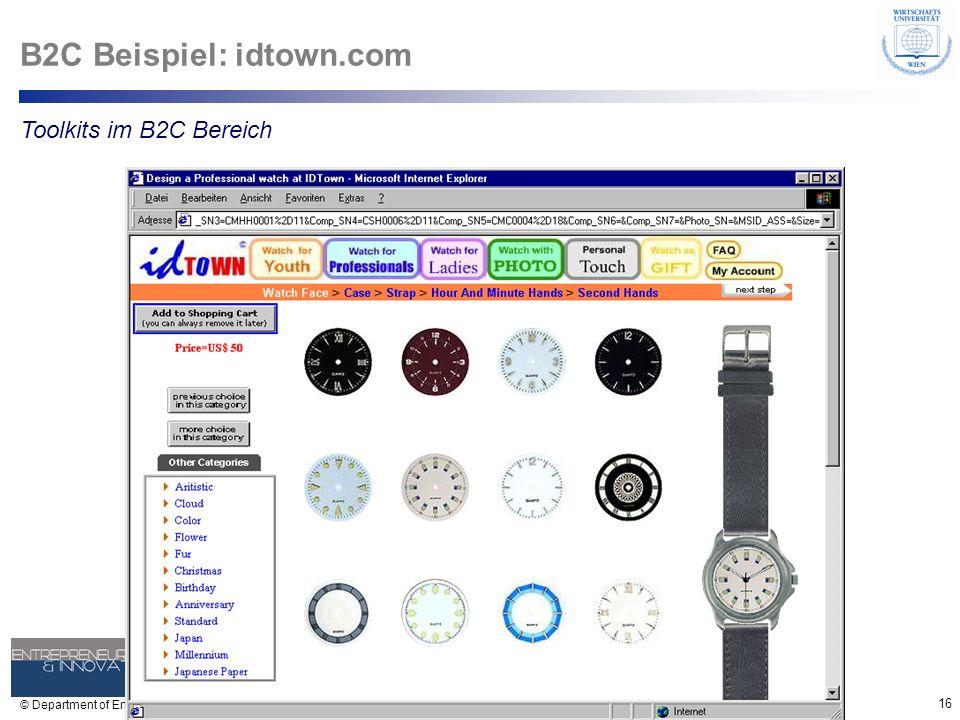 B2C Beispiel: idtown.com