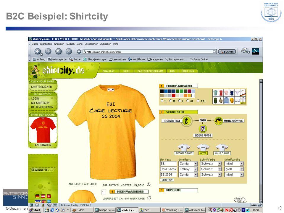 B2C Beispiel: Shirtcity
