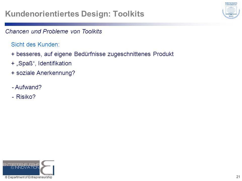 Kundenorientiertes Design: Toolkits