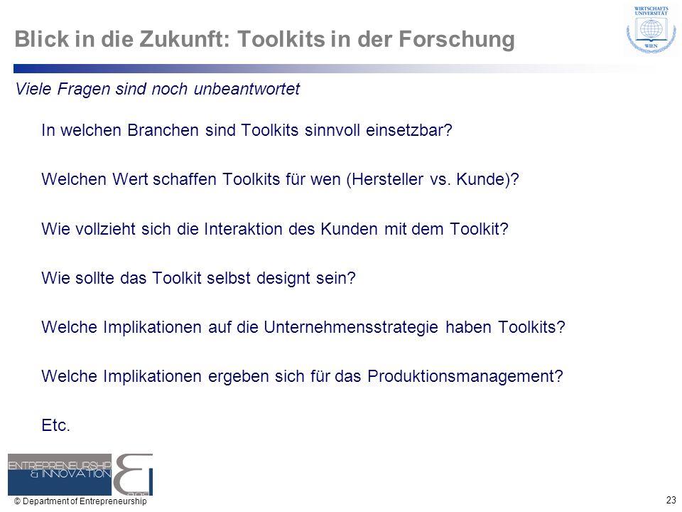 Blick in die Zukunft: Toolkits in der Forschung