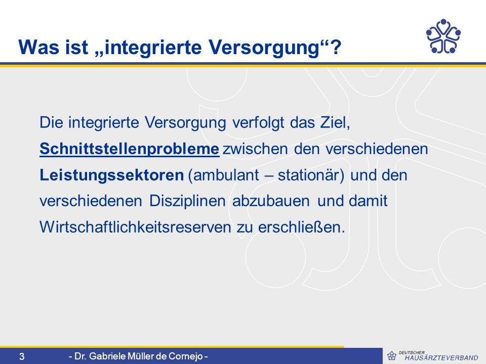 """Was ist """"integrierte Versorgung"""