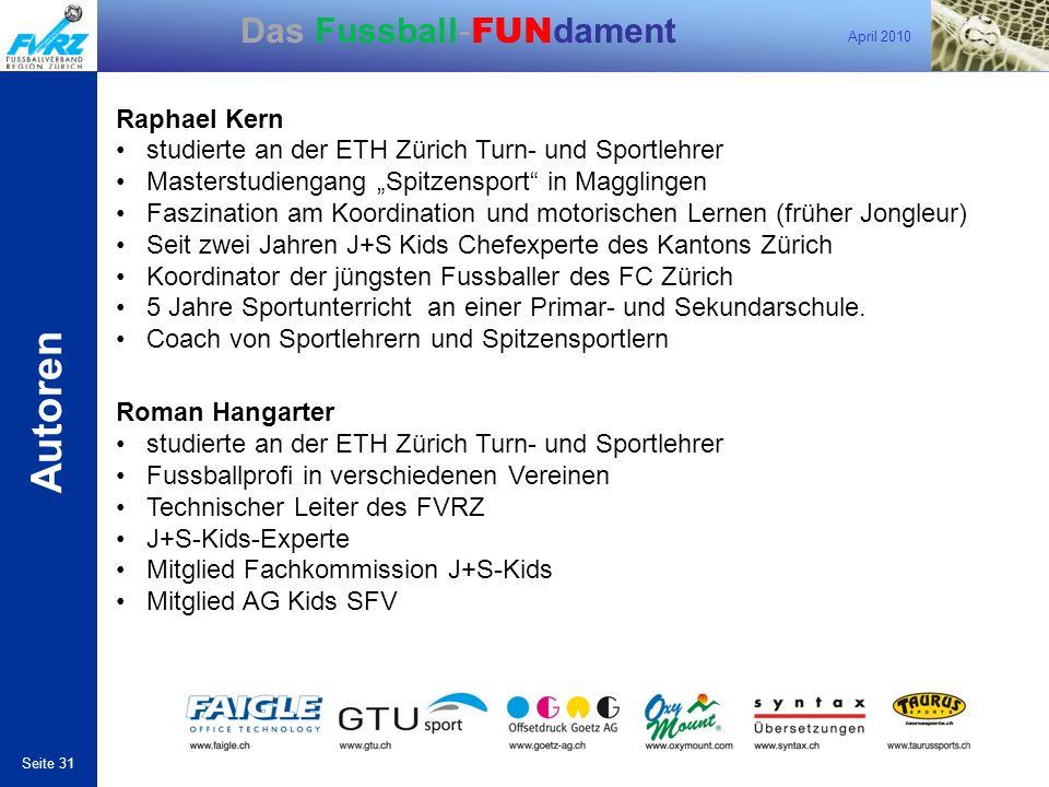 Autoren Raphael Kern studierte an der ETH Zürich Turn- und Sportlehrer