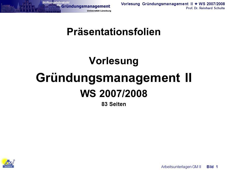 Gründungsmanagement II