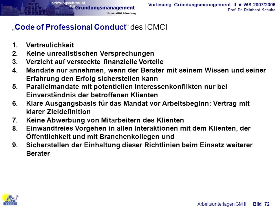 """Code of Professional Conduct des ICMCI"