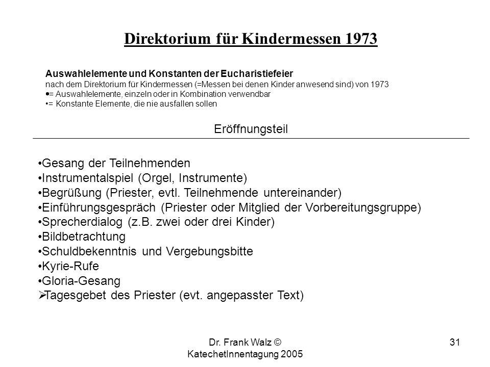Direktorium für Kindermessen 1973