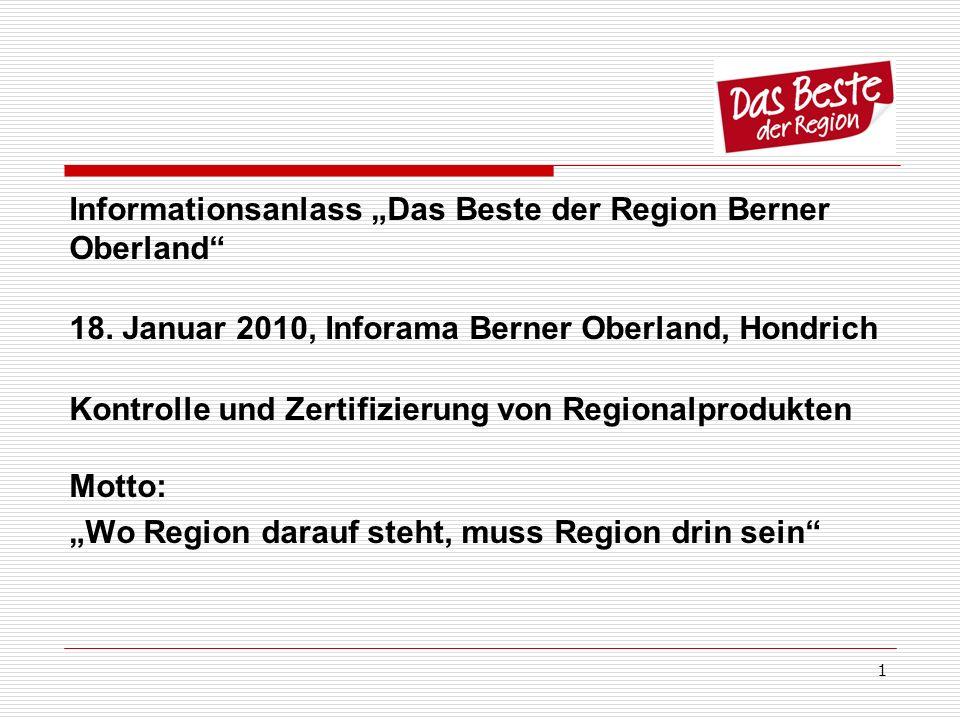 """Informationsanlass """"Das Beste der Region Berner Oberland"""