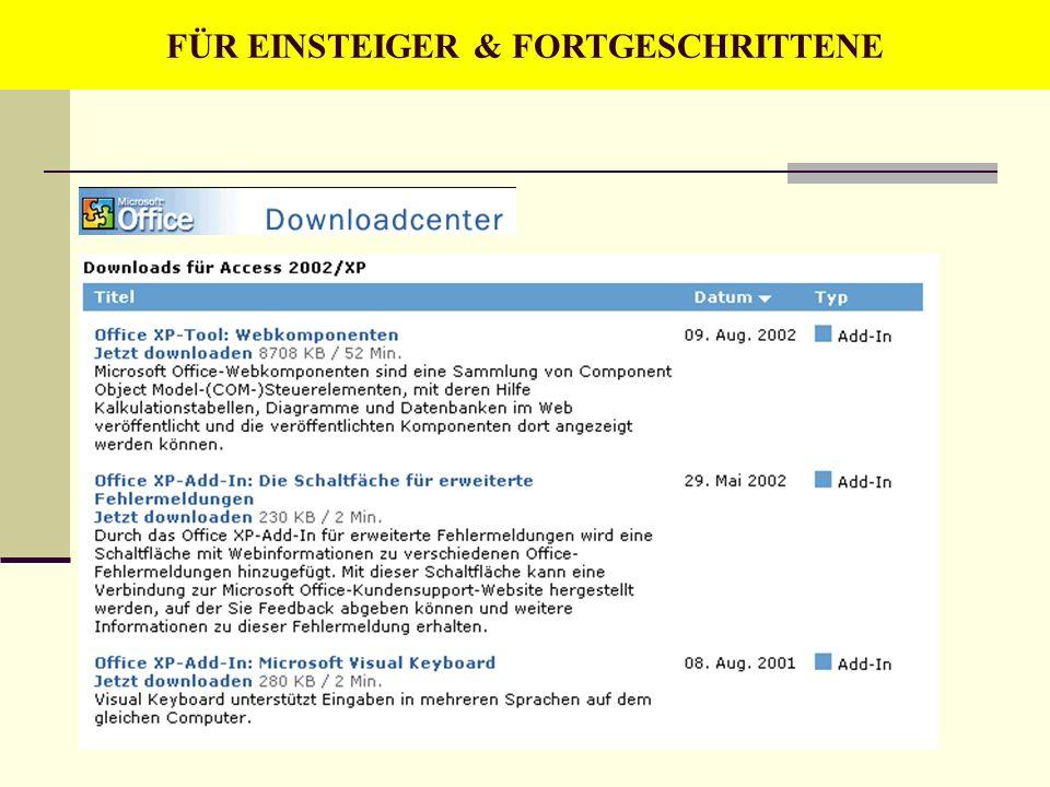 FÜR EINSTEIGER & FORTGESCHRITTENE