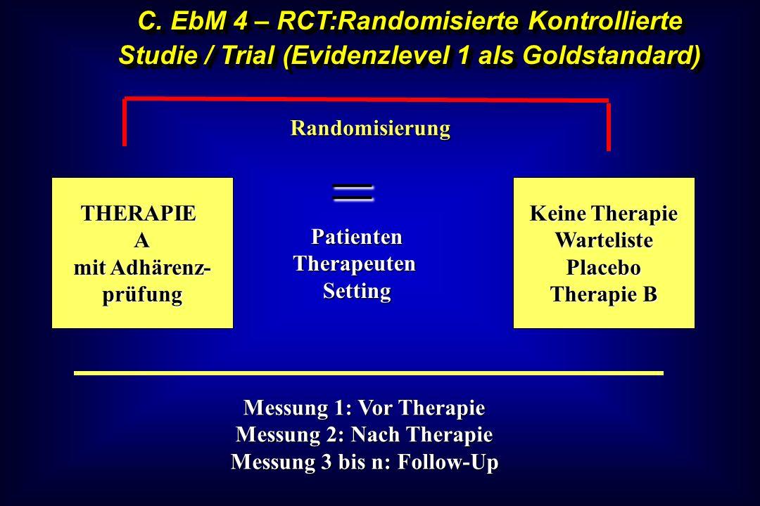 Messung 2: Nach Therapie Messung 3 bis n: Follow-Up
