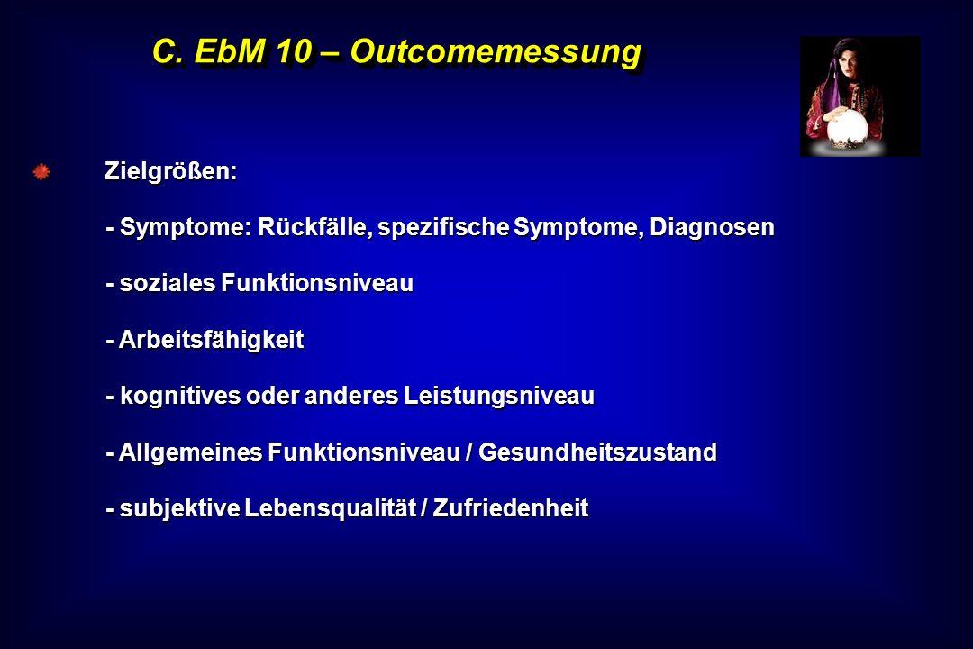 C. EbM 10 – Outcomemessung Zielgrößen: