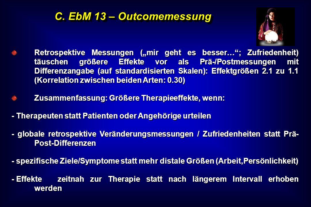 C. EbM 13 – Outcomemessung