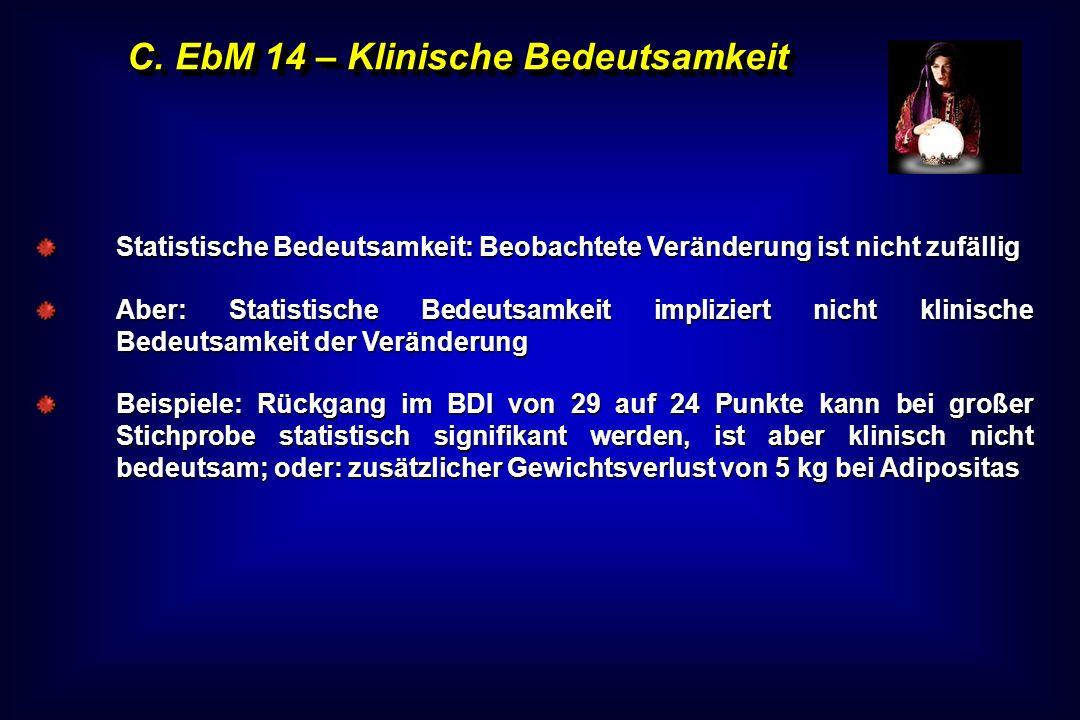 C. EbM 14 – Klinische Bedeutsamkeit