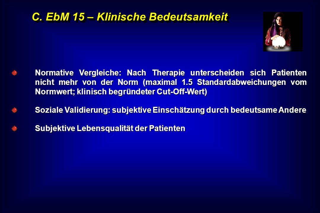 C. EbM 15 – Klinische Bedeutsamkeit