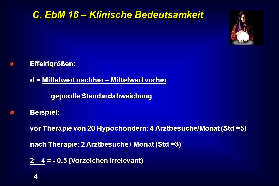 C. EbM 16 – Klinische Bedeutsamkeit