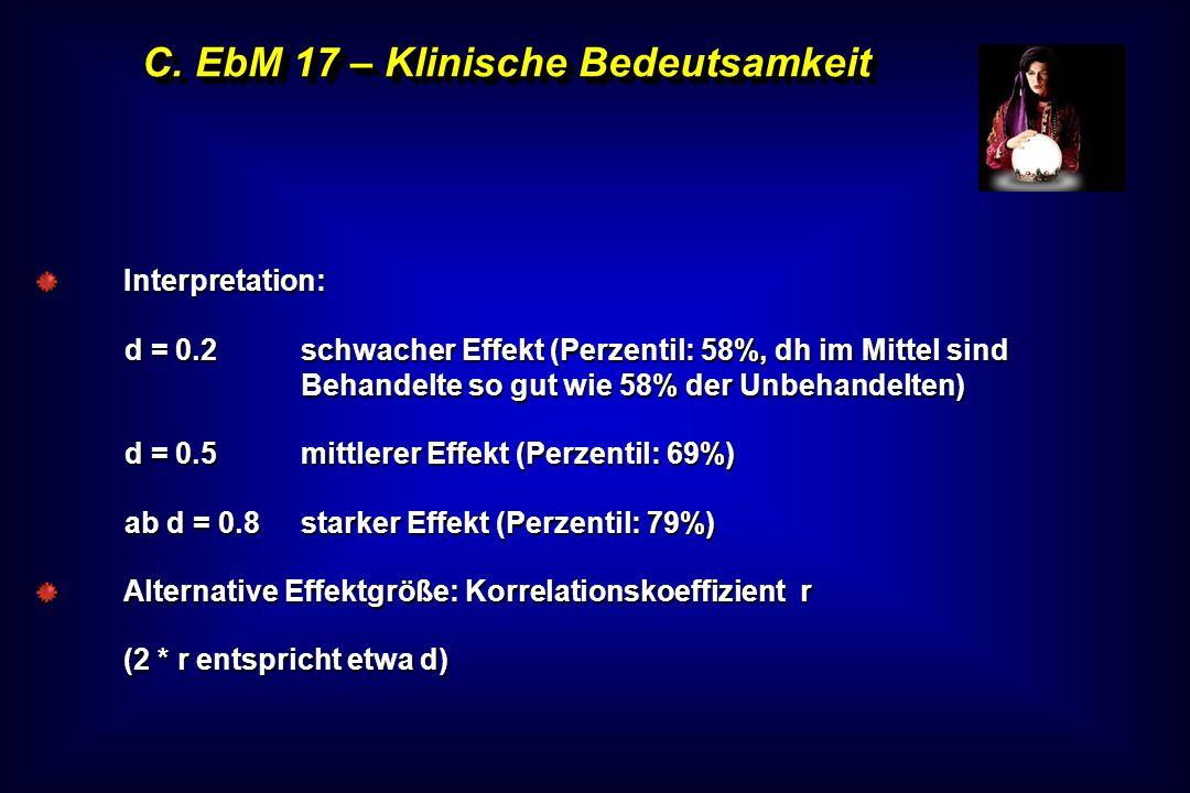 C. EbM 17 – Klinische Bedeutsamkeit