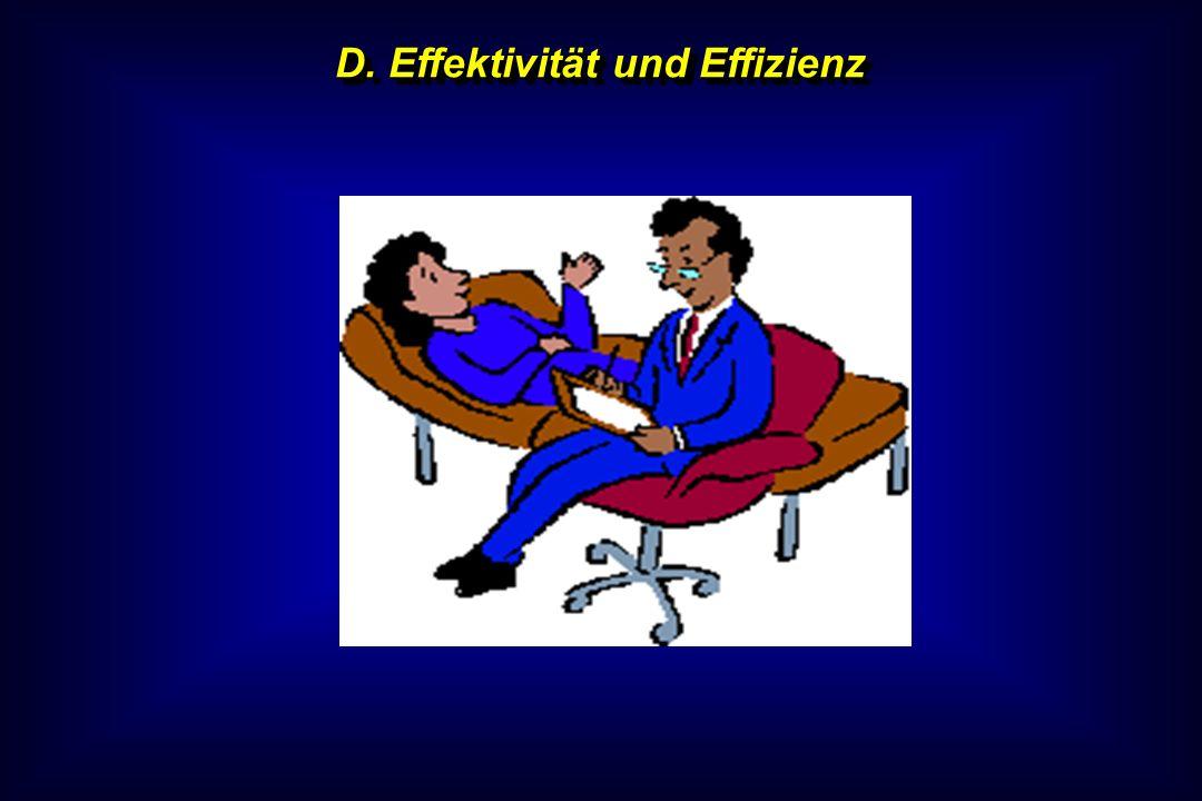 D. Effektivität und Effizienz