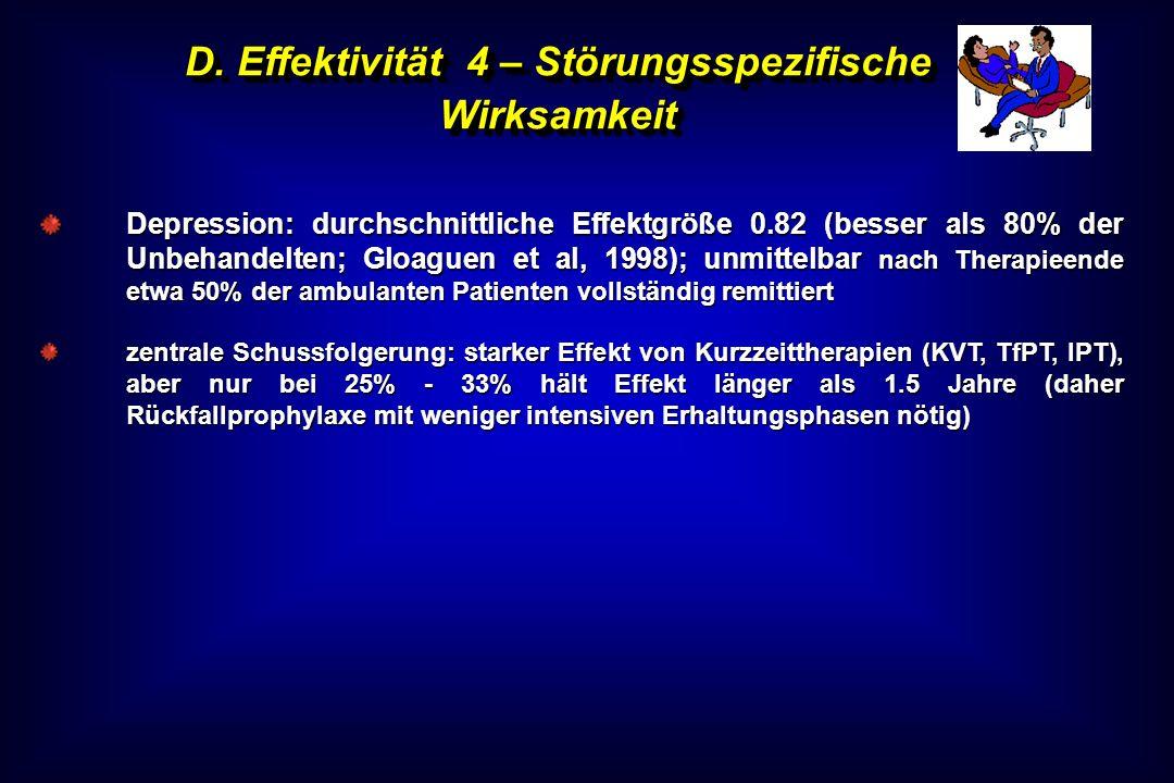 D. Effektivität 4 – Störungsspezifische