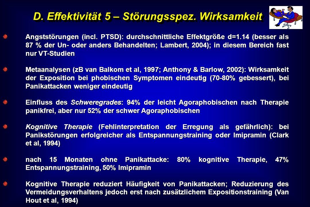 D. Effektivität 5 – Störungsspez. Wirksamkeit