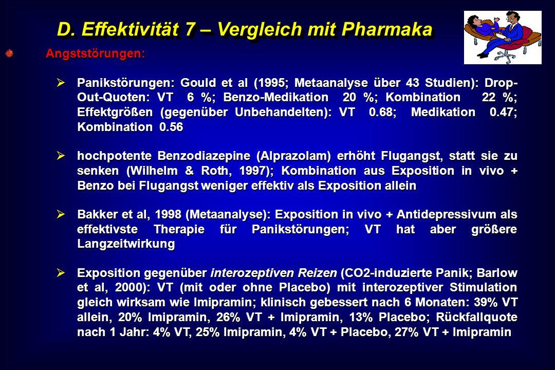 D. Effektivität 7 – Vergleich mit Pharmaka